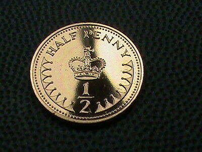 GREAT  BRITAIN    1/2  Penny    1984    PROOF
