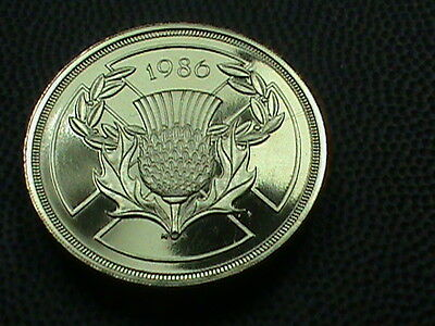 GREAT  BRITAIN    2  Pounds    1986    PROOF