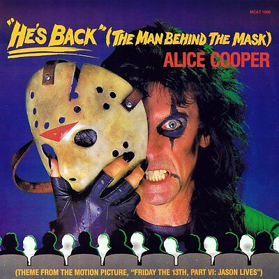 ALICE COOPER He's Back The Man Behind The Mask Album Print 12x12 Friday 13th VI