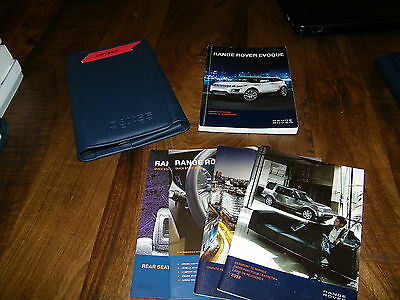 2012 Land Rover Evoque owners manual with case Lan233
