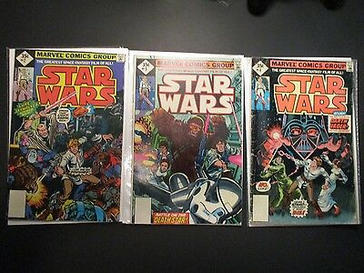 Star Wars Vintage 1977 Old Comic Books # 2, 3, 4  Issues