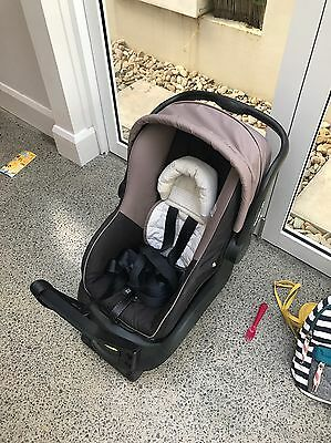 Steelcraft Infant Baby Capsule Onyx Grey With Car strap And Stroller Adapter