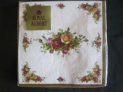 ROYAL ALBERT OLD COUNTRY ROSES PAPER COCKTAIL NAPKINS Pkt of 20