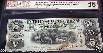 The International Bank , Of Canada 1858 , $5