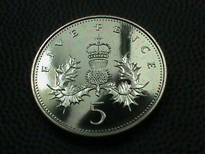 GREAT  BRITAIN     5  Pence    1985    PROOF