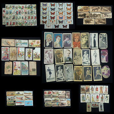Lot 145 x CIGARETTE CARDS CHINA PIRATE WARRIOR ZOO FILM AIR ENGINE COSTUME