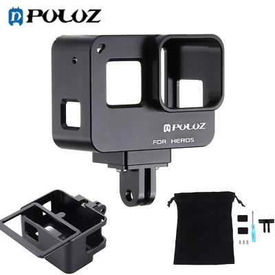 PULUZ Housing Shell CNC Aluminum Alloy Protective Cage Insurance Frame for GoPro