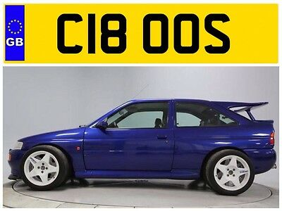 C18 Oos Ford Sierra Escort Cosworth Cossie Cosby Cos Turbo Private Number Plate