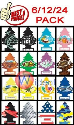 12/24Pack Little Trees Car Home Office Hanging Air Freshener