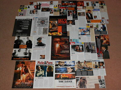55+ DENZEL WASHINGTON Magazine Clippings