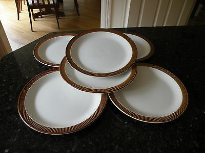Poole Pottery 'chestnut' 6 X Salad/breakfast Plates