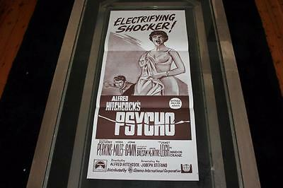 Psycho 1970's Re-Release Rare Aust Orig Daybill Movie Poster Rare Mint Condition