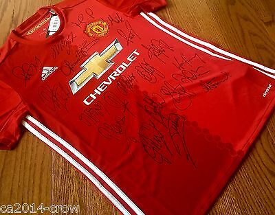 Hand Signed Jersey 2016/17 Manchester United Signed Shirt 20 Autographs + COA