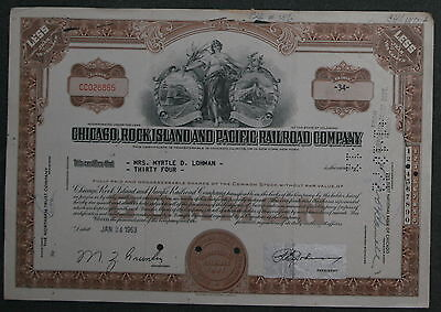 Chicago, Rock Island and Pacific Railroad Company 1963 34 Shares .