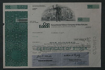 Consolidated Edison Company of New York, Inc. 1976 100 Shares .