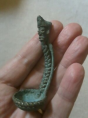 Rare antique African bronze spoon, not gold weight