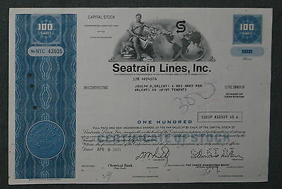 Seatrain Lines, Inc. 1971 100 Shares .