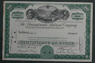 The Pennsylvania Railroad Company 1966 100 Shares .