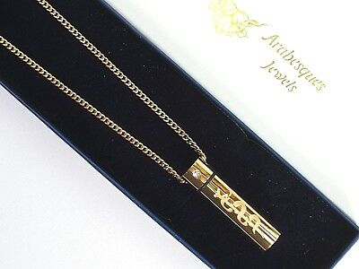 "30"" SOS NECKLACE/PENDANT MEDICAL ALERT/STAINLESS STEEL 9ct GOLD PLATED TALISMAN"