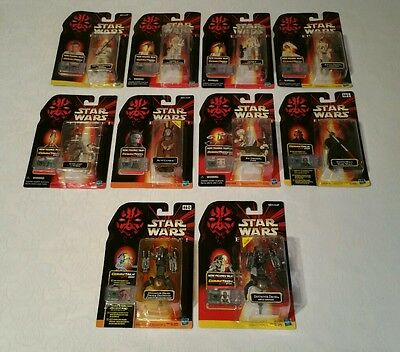 Star Wars Episode 1 Collection 1,2&3 Action Figures With CommTalk Chips UnOpened