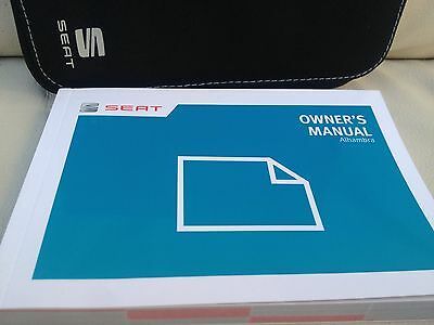 SEAT ALHAMBRA 2014 Shape OWNERS MANUAL HANDBOOK PACK