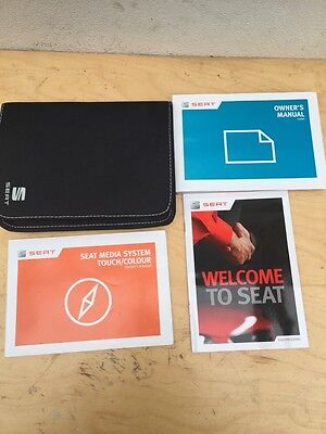 Seat Leon Owners Handbook Manual User Guide Book Wallet