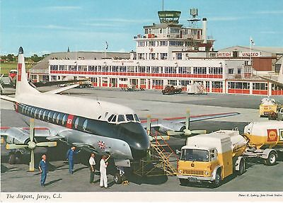 Nostalgic real photo postcard of the Airport, Jersey Channel Islands