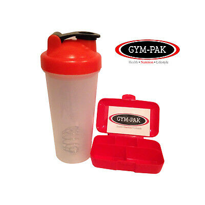 10 x 24oz Meal Prep containers, Protein Shaker Bottle And Pill Case Lunch Box