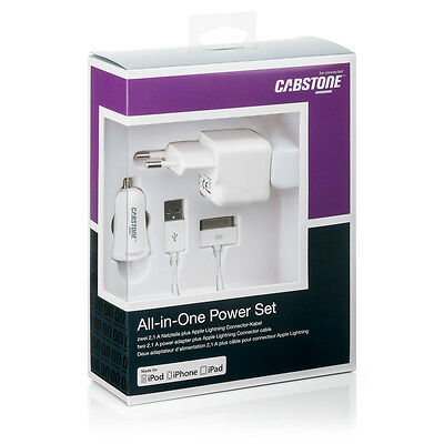 Cabstone Cabstone Ipw-Kit-30P Kit Caricabatteria 3In1 30Pin Per Iphone/ipad 2.1A