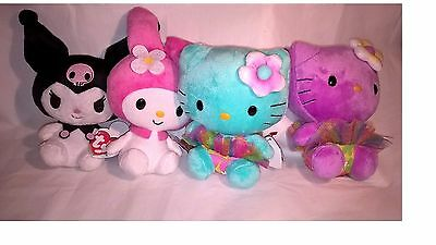 TY BEANIE BABIES HELLO KITTY - 4 PIECES - SOFT TOY PLUSH – NEW cute mascot kids