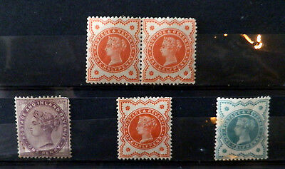 A collection Great Britain stamps of Queen Victoria, mint not hinged.#17.
