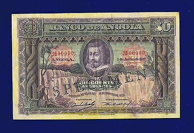 Angola 50 Angolares 1927 pic74S SPECIMEN VERY FINE ULTRA RR