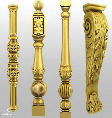 Stair Parts Antique Carved Spindles Newel Post beech oak, ash, pine - producer