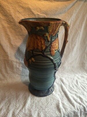 "An Extremely Large 14"" Carlton Ware Night Oak Design Ribbed Jug C1930"
