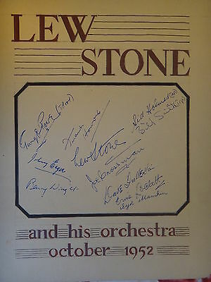 Lew Stone and his orchestra Autographs