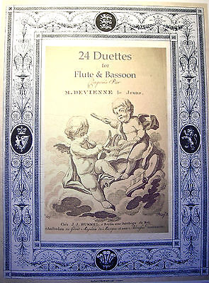Bassoon Music-Devienne-24 Duets for Flute & Bassoon