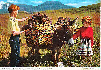 #06 J Hinde Colour Collecting Turf From The Bog  Connemara Galway Ireland