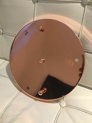 Large 25cm, Rose Gold,Metal Ceiling Rose Electrical Fitting, BN, Fast Delivery