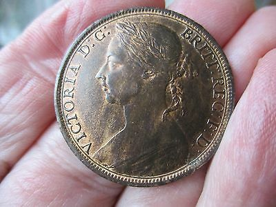 1891 QUEEN VICTORIA  Penny. High grade with lustre