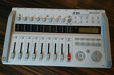 zoom r16 digital recorder and interface 16 track USB 8 simultaneous inputs