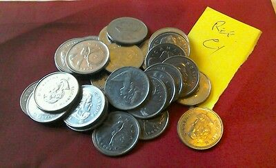 Canada 25cent coins X 30