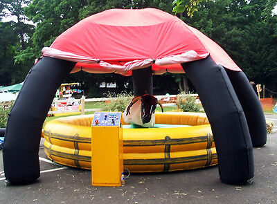 Rodeo Bull Equipment, Inflatable Marquee and Last Man Standing Attachment & Bed