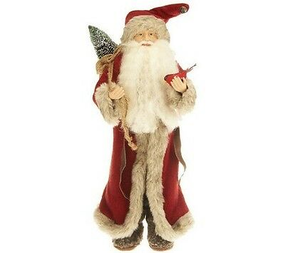 """18"""" Tall Decorative Old World Santa Claus H197336 OR H204426 RED"""
