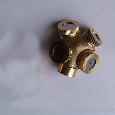 new 4 Hole Brass metal Spray Nozzle Impulse Water Sprinklers Irrigation Fitting
