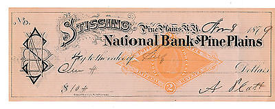 The First National Bank, Pine Plains, New York  1879   With Revenue
