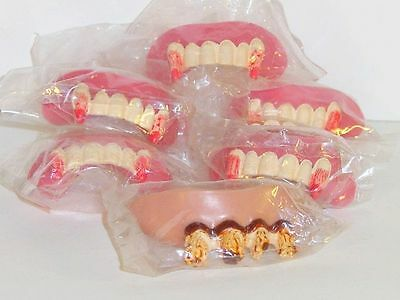 8 Ugly Teeth & Fang Teeth w rubber Gums Novelty Costume Fun Play