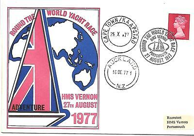 Round the World Yacht Race 1977 Portsmouth, Cape Town & Aucland NZ CDSs.