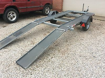 CAR transporter trailer  easy to move and tow quad bike etc
