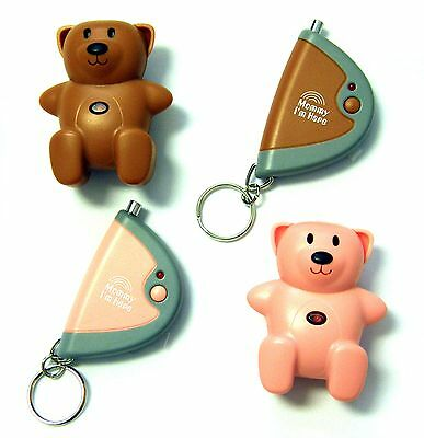 Mommy Im Here Teddy Bear Remote Child Locator, Pink/Brown, 2-Pack