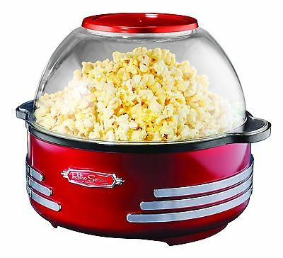 Nostalgia SP300RETRORED Retro Theater-Style Stirring Popcorn Maker, Red